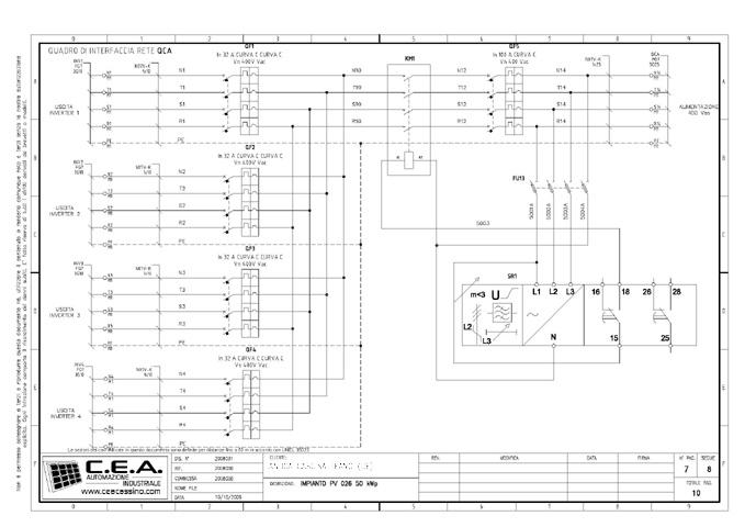 Schema Elettrico Quadro Di Stringa : C e a progettazione schemi elettrici per quadri di