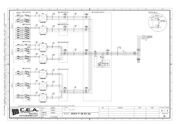 Schema Elettrico Unifilare Impianto Fotovoltaico 3 Kw : C e a progettazione schemi elettrici per quadri di